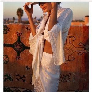 NWT Rat & Boa sui kimono top size xs white